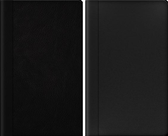 きれいな字表紙 レザー black