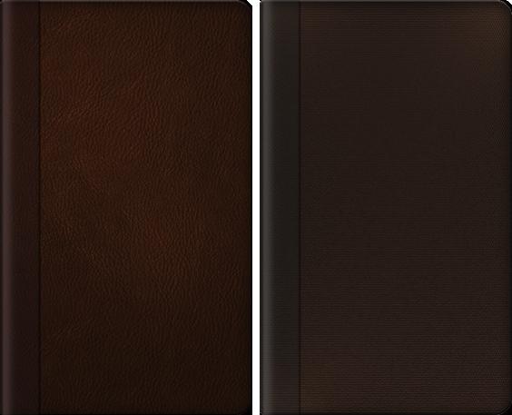 きれいな字表紙 レザー brown